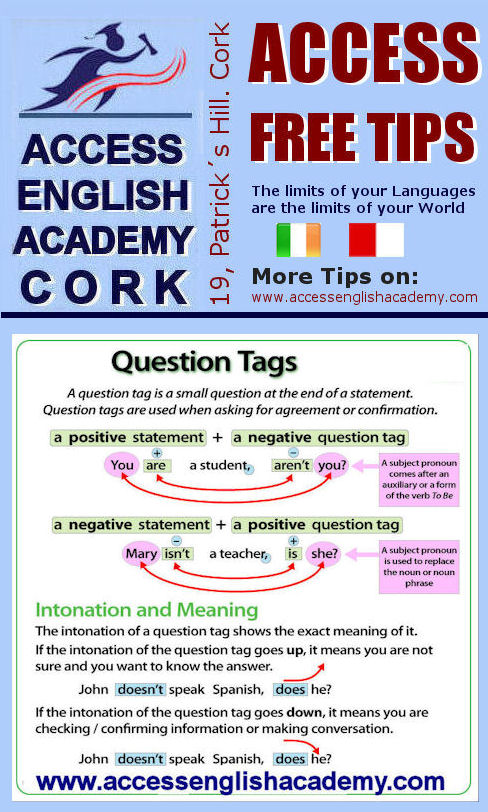 Course English Cork TIP QUESTION TAG